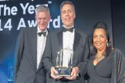 Winner – BBC broadcaster Jeremy Vine presenting the award to John Niland, of Provide, with Claire Dove OBE