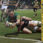 Southend Standard: George North scored two tries before going off with a head injury