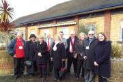 Rotary club members visit the Lancaster School