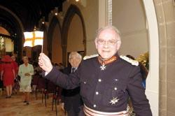 Southend Standard: Lord Lieutenant Lord Petre at the service