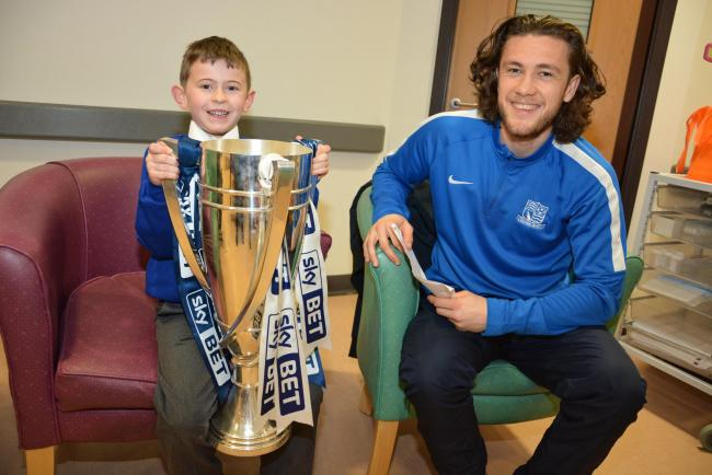 Ethan Miller with Ben at Southend Hospital
