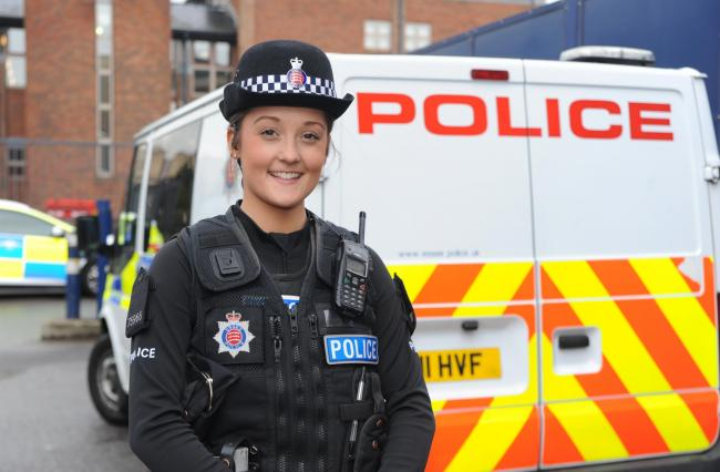 Heartbreaking realisation: PC Chloe Phillips was one of the first on the scene