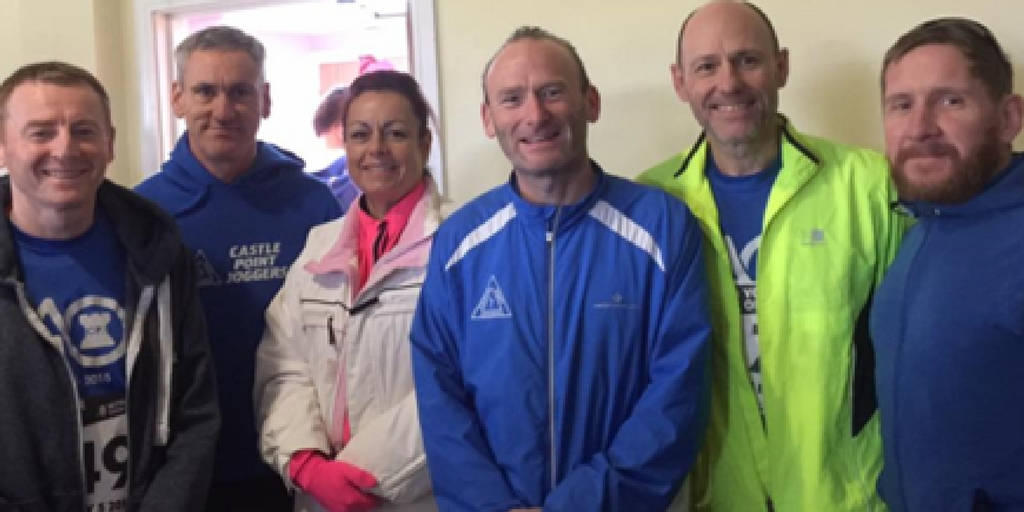 Out in force - six Castle Point Joggers members competed in the Witham Five