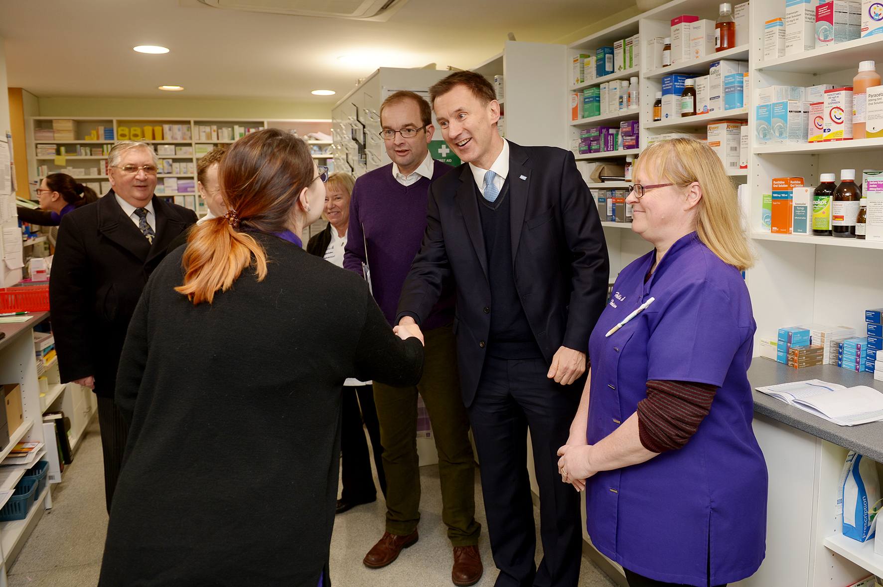 Flying visit - Health Minister Jeremy Hunt with James Duddridge and Southend Council leader John Lamb