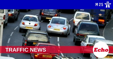 Two lanes of the M25 blocked after crash