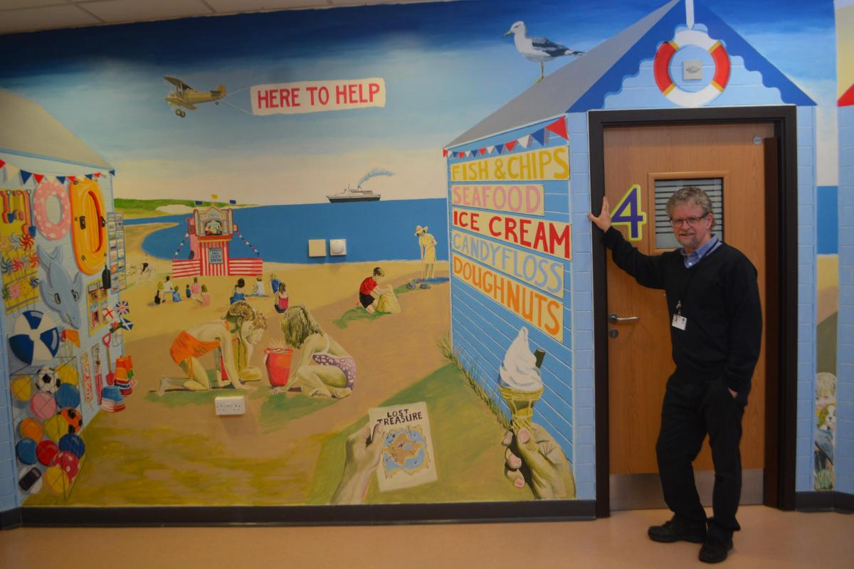 Seaside Mural Is Big Hit With Young Southend Standard # Support Dvd Mural