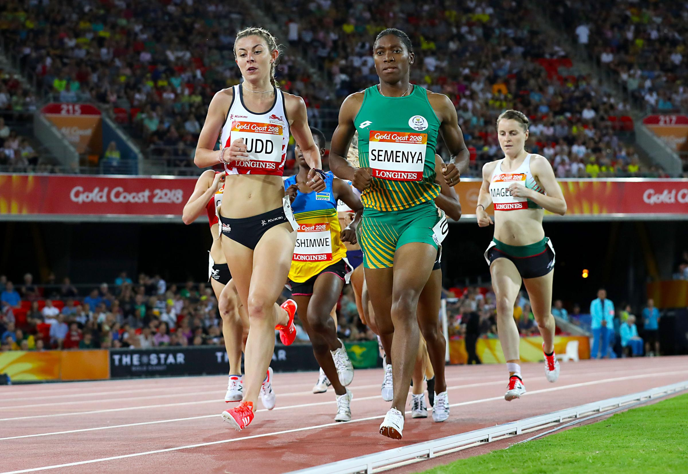Qualified - Jessica Judd (left) has made it through to the 1500m final at the Commonwealth Games