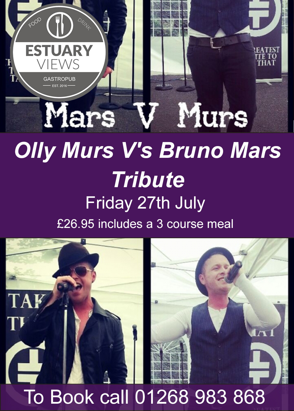 Bruno Mars V's Olly Murs Tribute Night