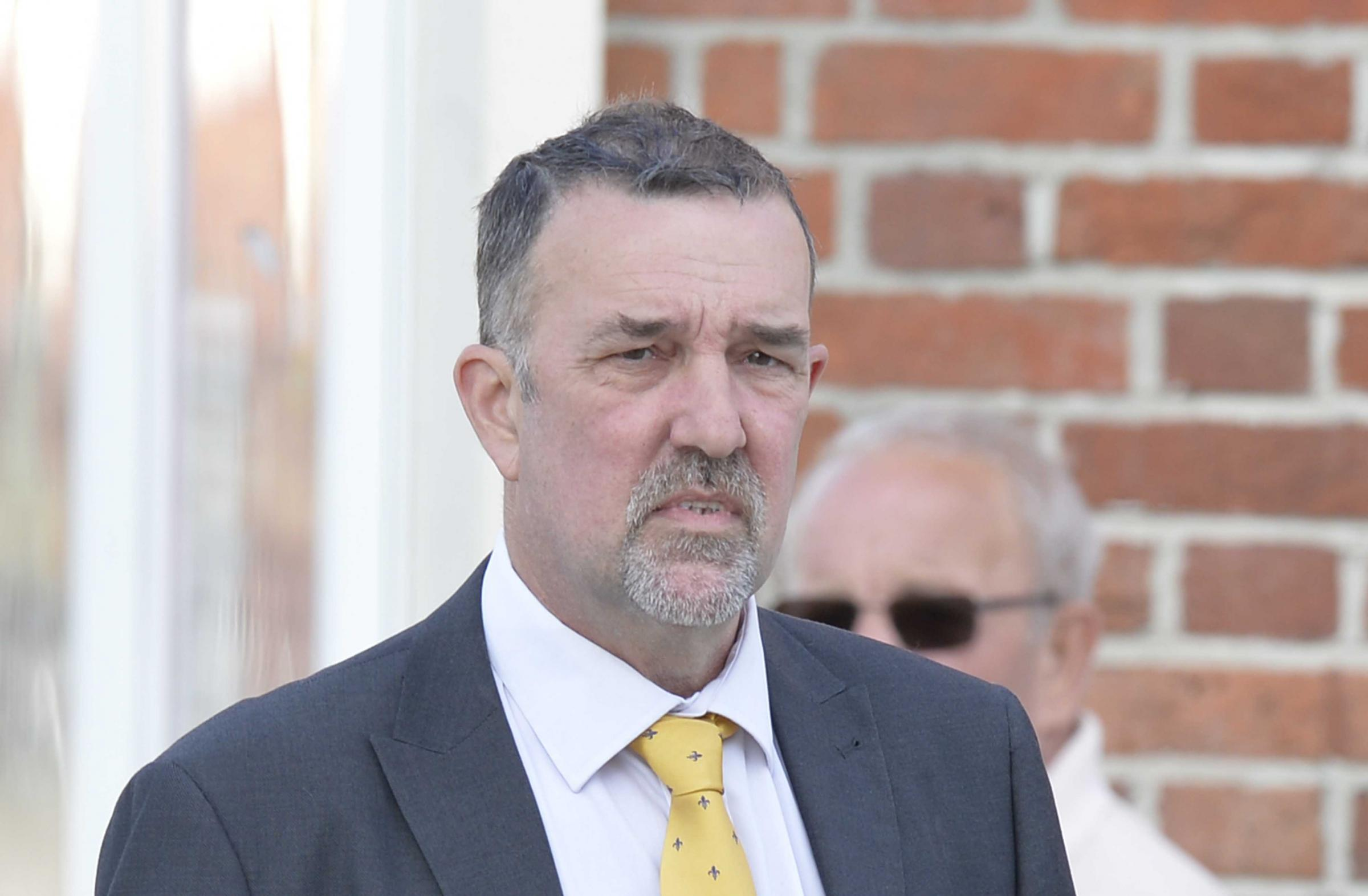 Peter Diakowski pictured outside Colchester Magistrates' Court