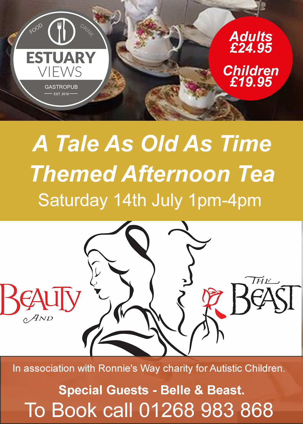 A Tale As Old As Time Beauty & The Beast Themed afternoon Tea