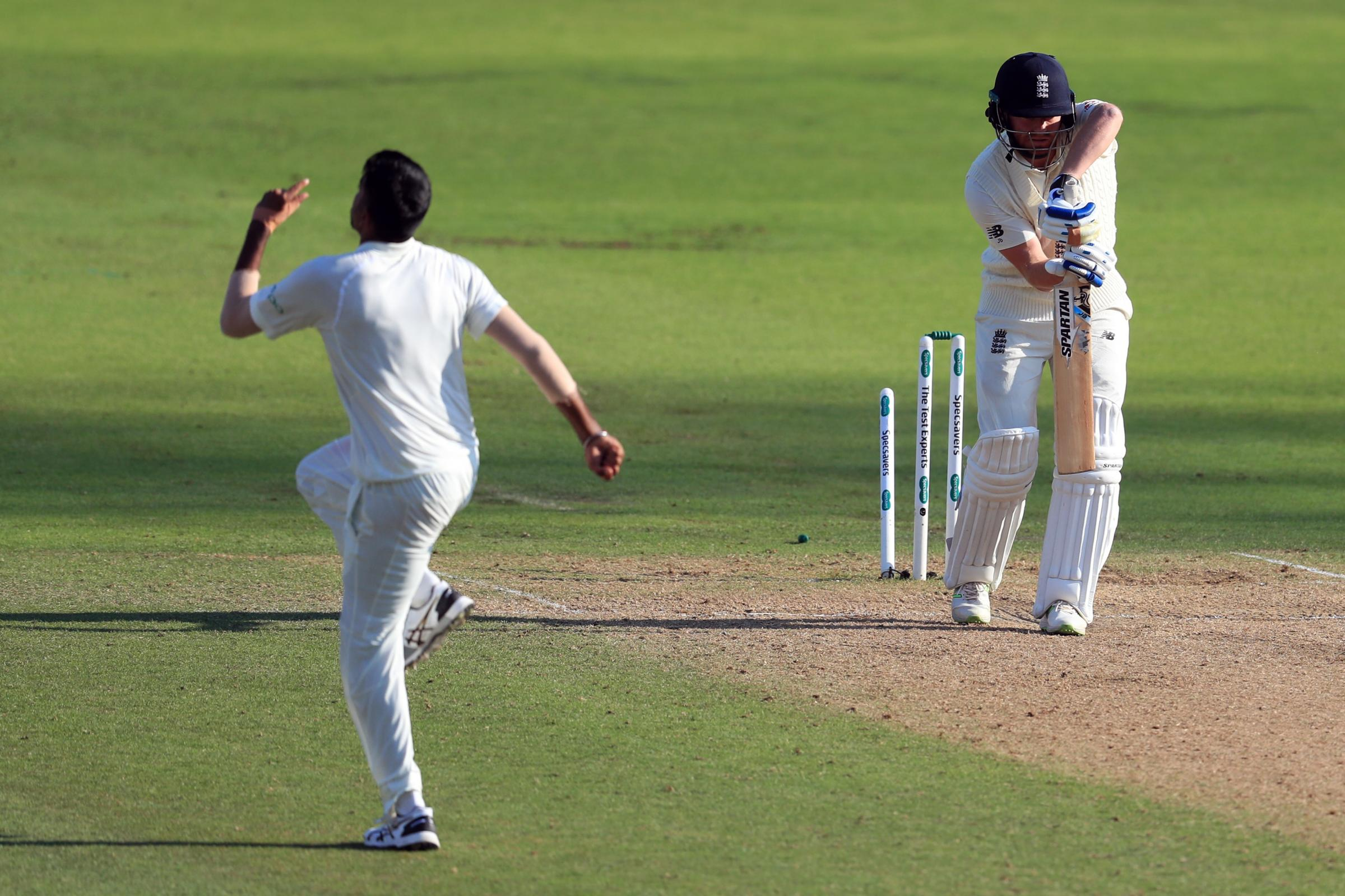 Jasprit Bumrah (left) bowled Jonny Bairstow as two wickets fell in two balls