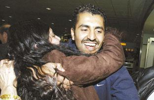 Maajid Nawaz when he arrived home back in 2006