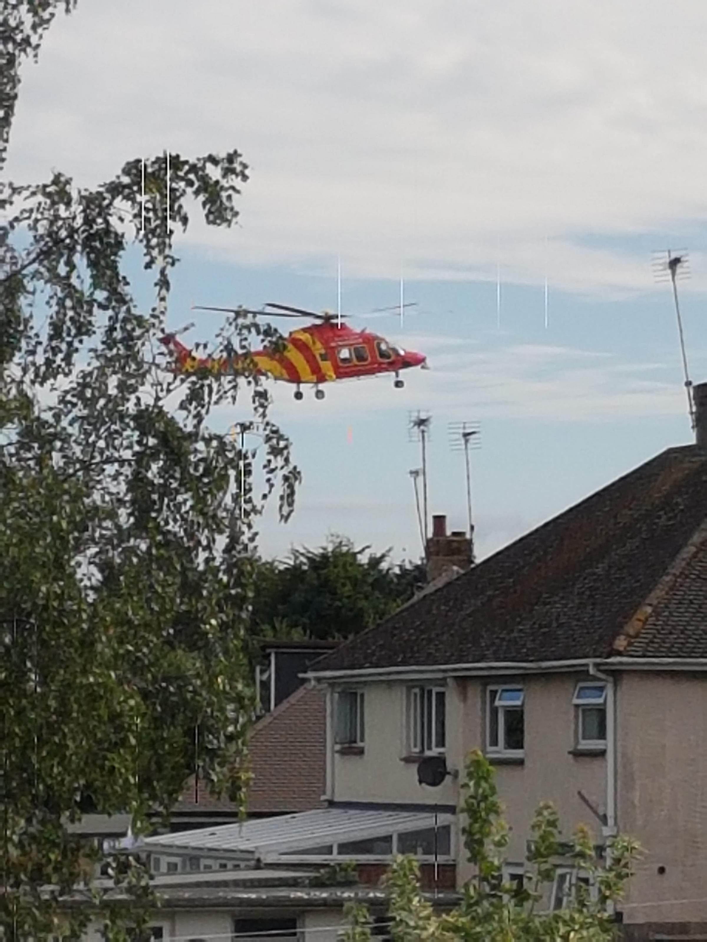 Air ambulance in Eastwood