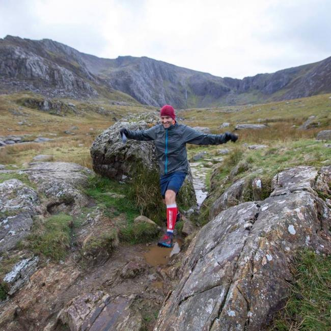 In fine form - Steve Kjar was able to scale Snowdonia