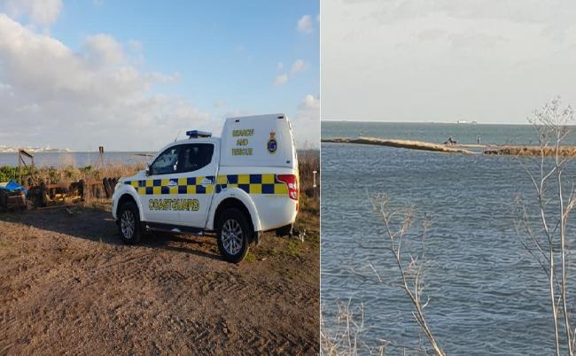 Dog walkers rescued after becoming stranded at Canvey Point