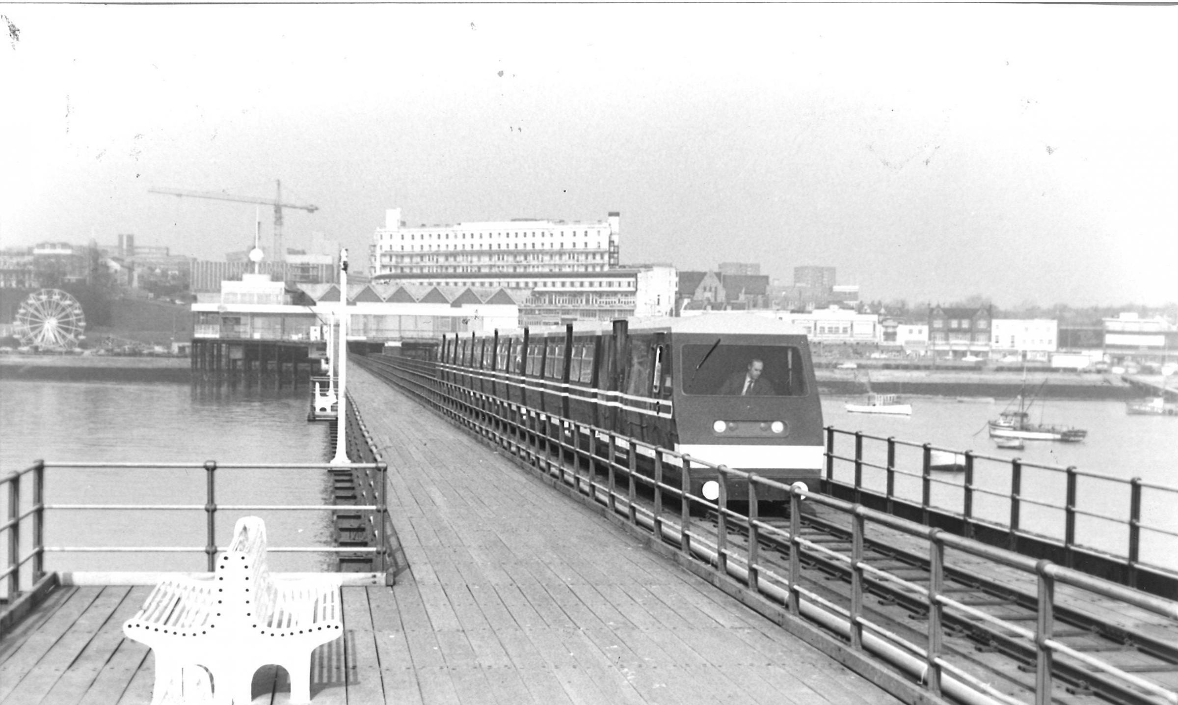 New - this picture shows a pier train shortly after they were introduced in 1986