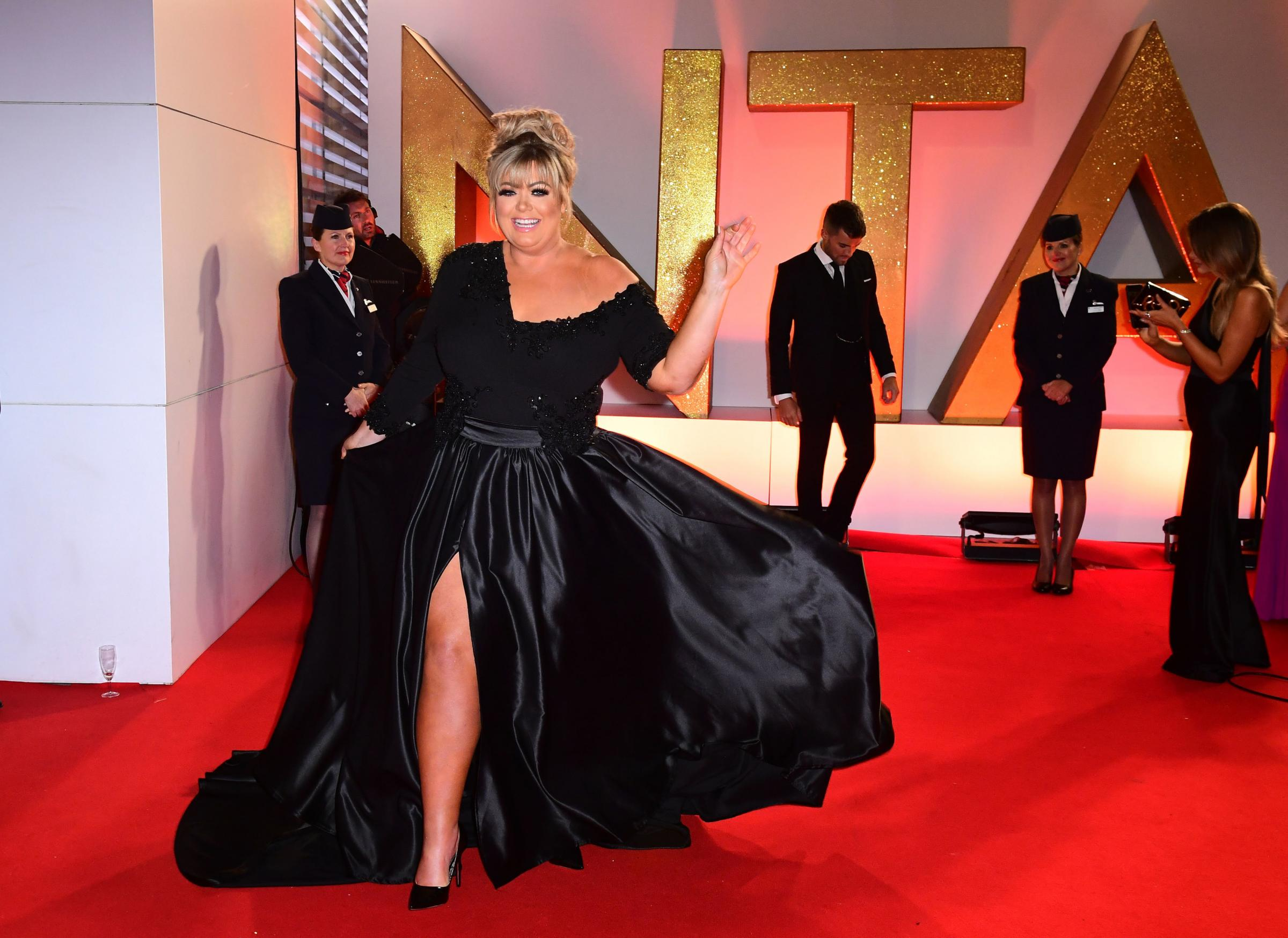 Gemma Collins attending the National Television Awards 2019 held at the O2 Arena, London. PRESS ASSOCIATION PHOTO. Picture date: Tuesday January 22, 2019. See PA story SHOWBIZ NTAs. Photo credit should read: Ian West/PA Wire