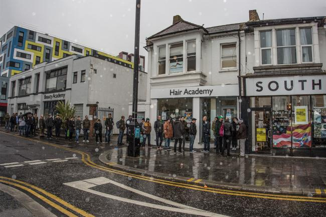 Big queues - On Record Store Day outside South Records                                                                                             Picture: Matt Whitby