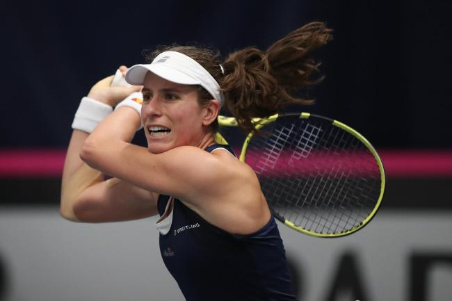 Johanna Konta was in great form on the Italian clay on Thursday