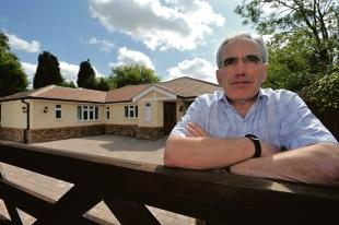 Southend Standard: Charles Cormack outside Peaceful Place